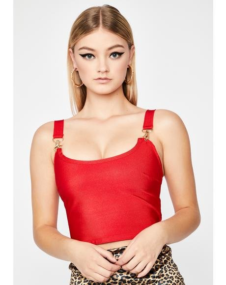 Cherry Rich Desires Crop Tank