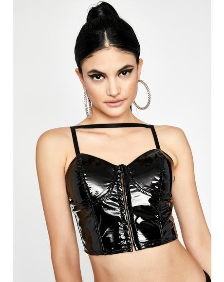 Night Sweet Symbol Vinyl Bustier