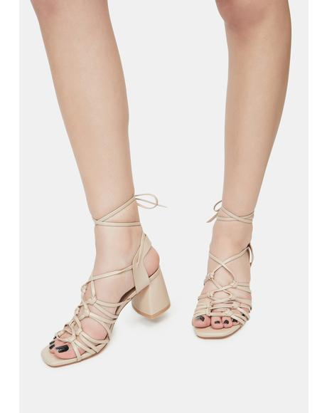 Beige Got It Like That Strappy Sandals