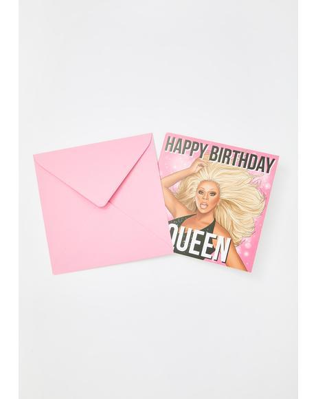 RuPaul Birthday Card