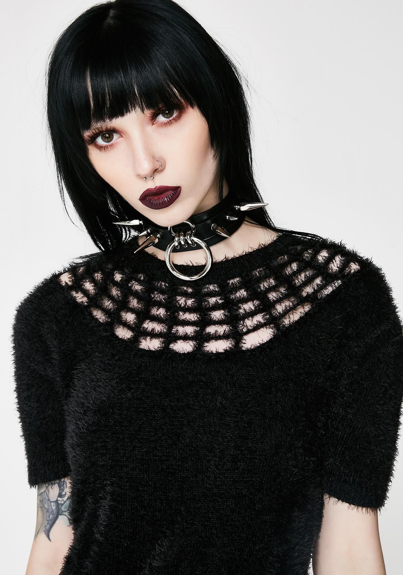 Killstar Nexus Fuzzy Sweater | Dolls Kill