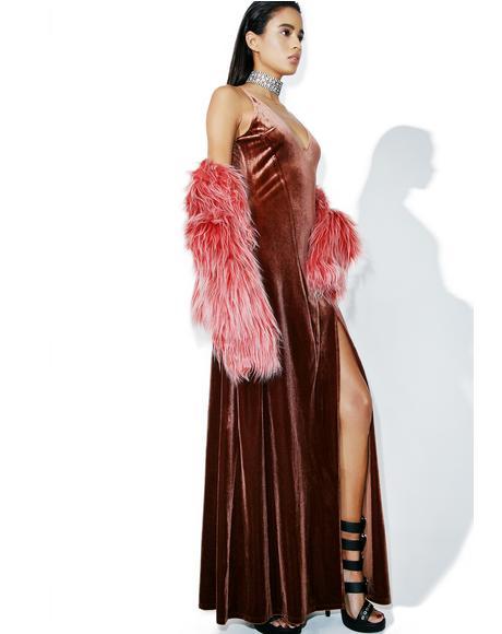Copper So Swanky Maxi Dress