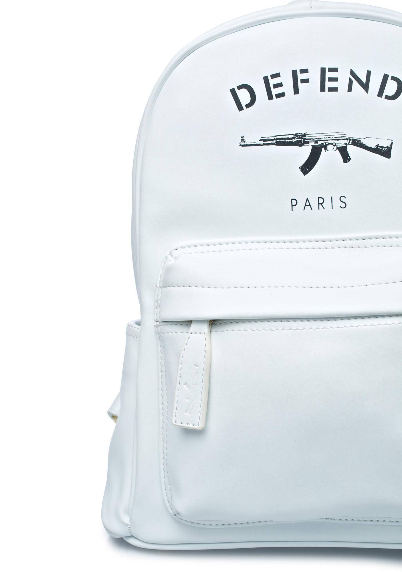Defend Paris White AK Backpack