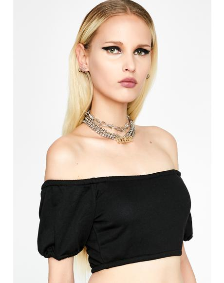Dark Slayin' Sinna Crop Top