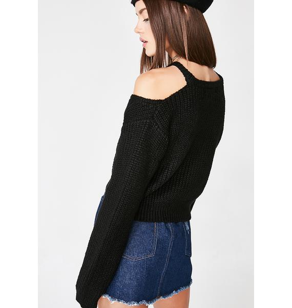 Lost My Mind Cut-Out Sweater