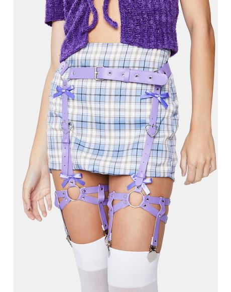 Lavender Dreams Leg Garter Harness