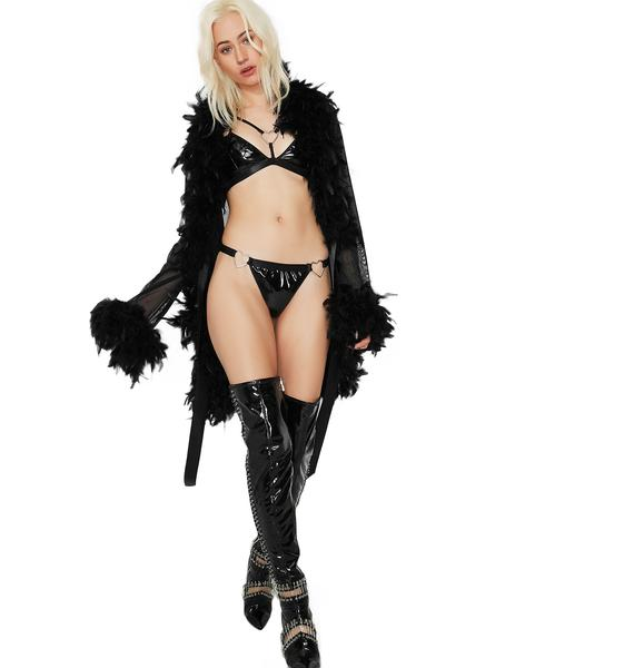 Alluring Temptations Feathered Robe