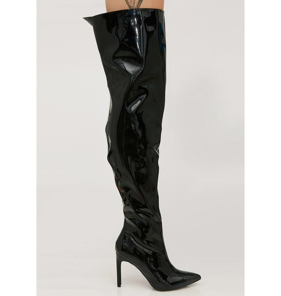 Get Rich Quick Thigh High Boots