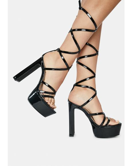 Noir Lucky Night Out Heels