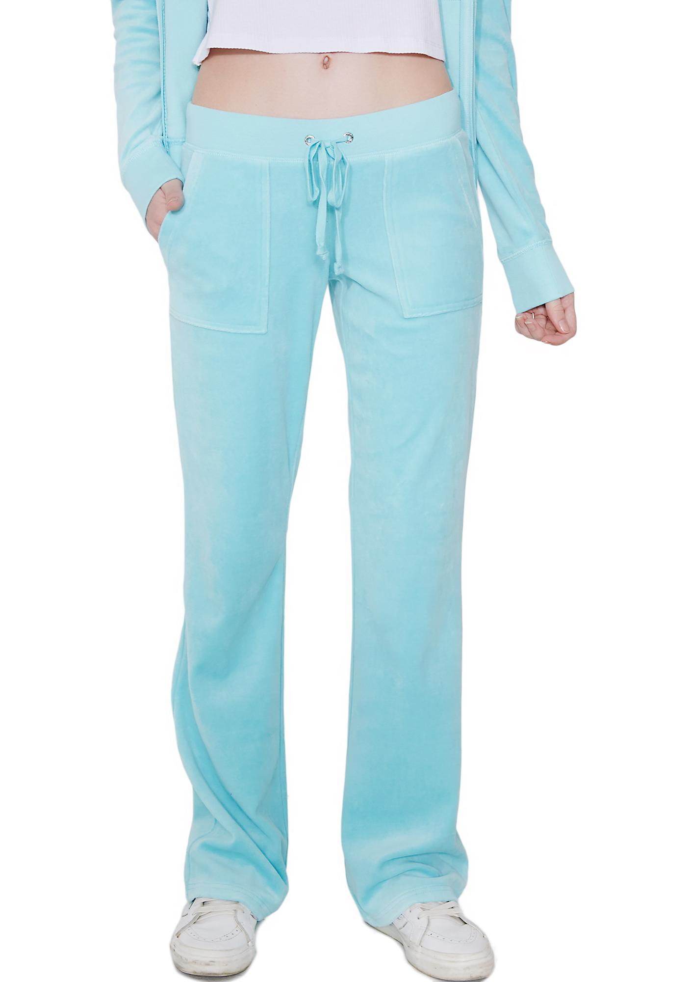 JUICY COUTURE Sky Velour Del Rey Pants