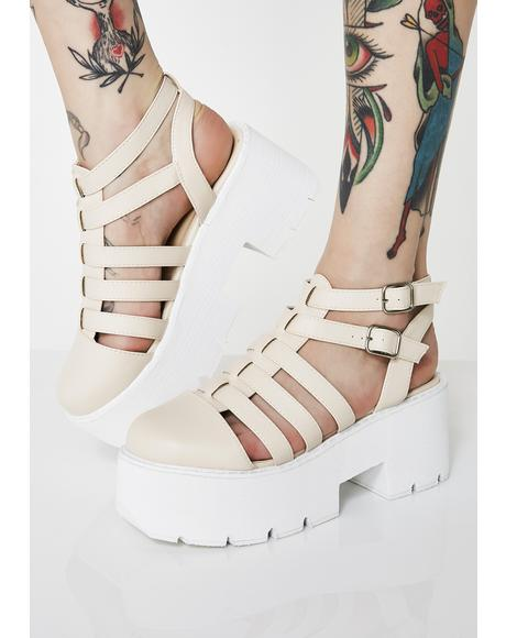 Beach Stompin' Around Platform Sandals
