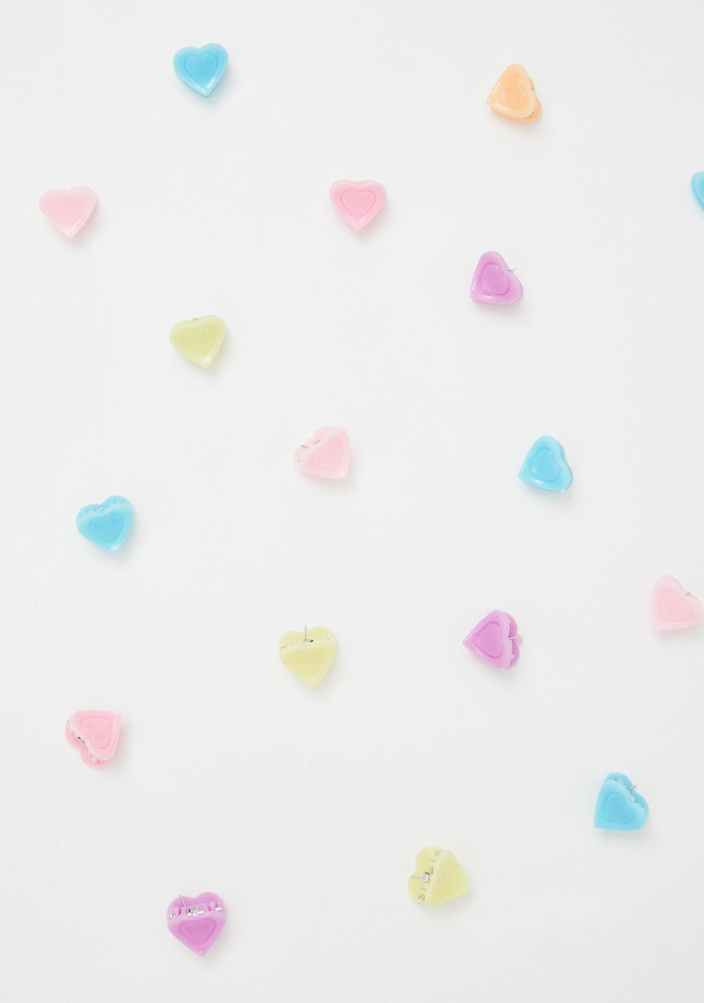 Open Hearts Hair Clips