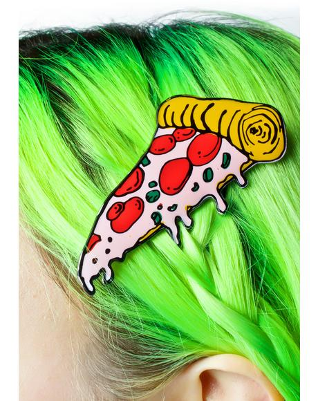 Pizza Hair Clip
