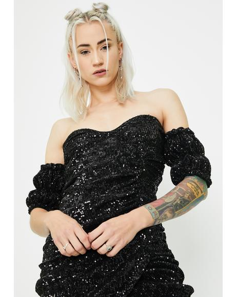 Vivienne Ruched Sequin Dress