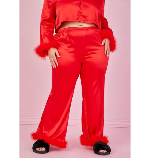Sugar Thrillz True Lover's Quarrel Satin Pajama Bottoms
