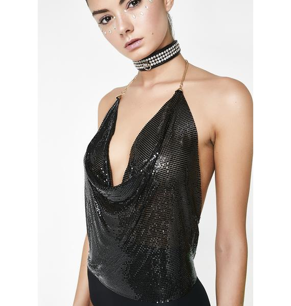 Spark It Up Chainmail Halter Top