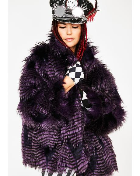 Midnight Twilight Sparkle Faux Fur Coat