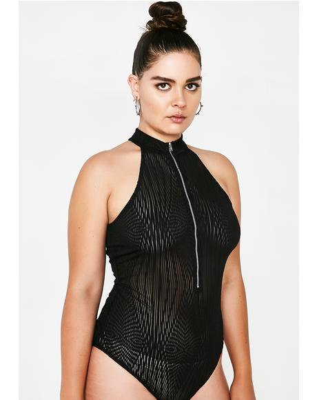 Diamond Eyes Sheer Bodysuit