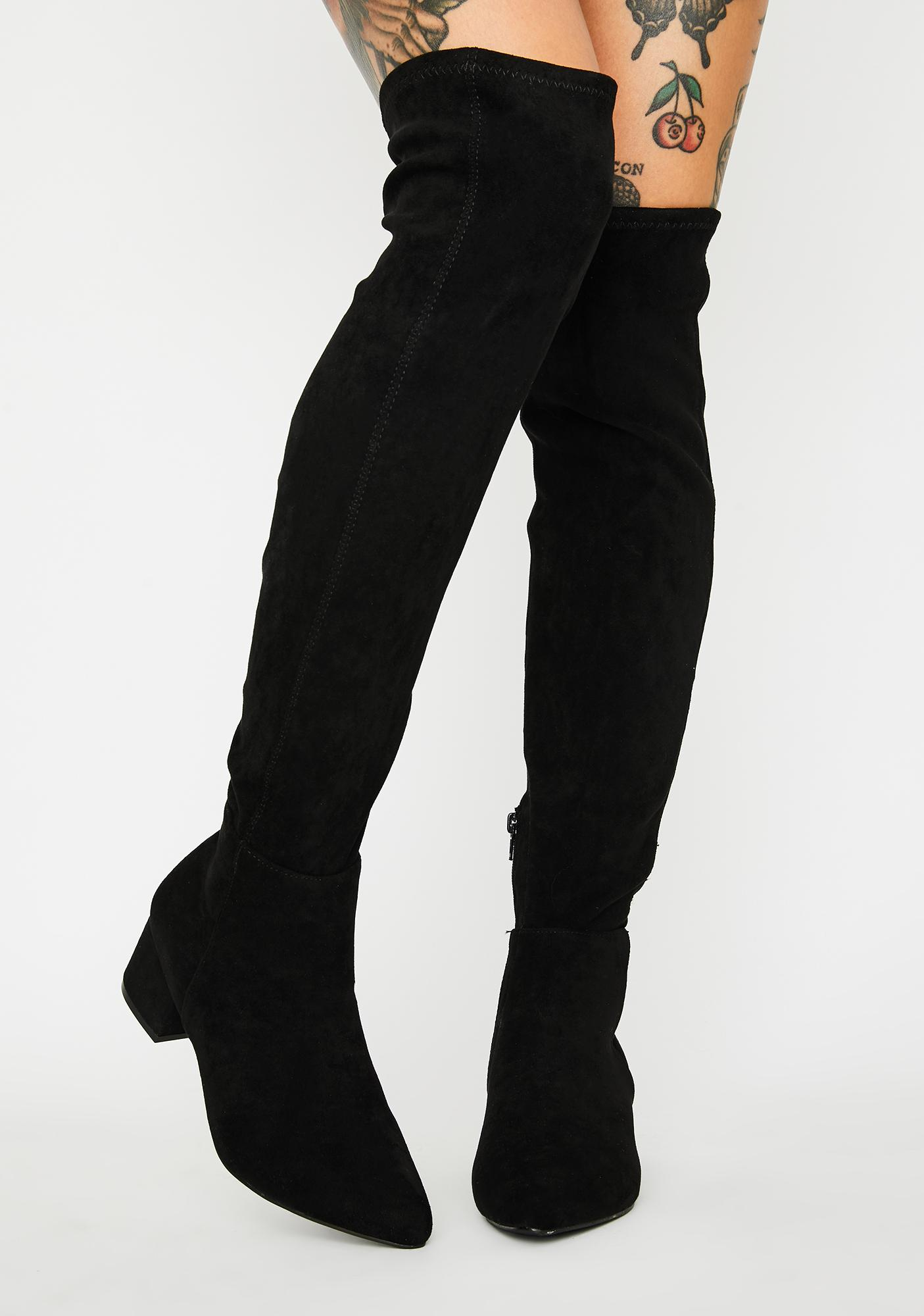 Next In Line Knee High Boots
