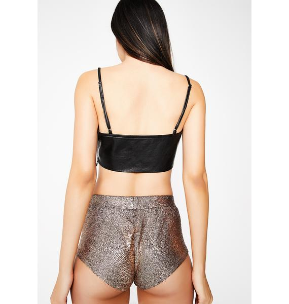 Gold Let's Dance Booty Shorts