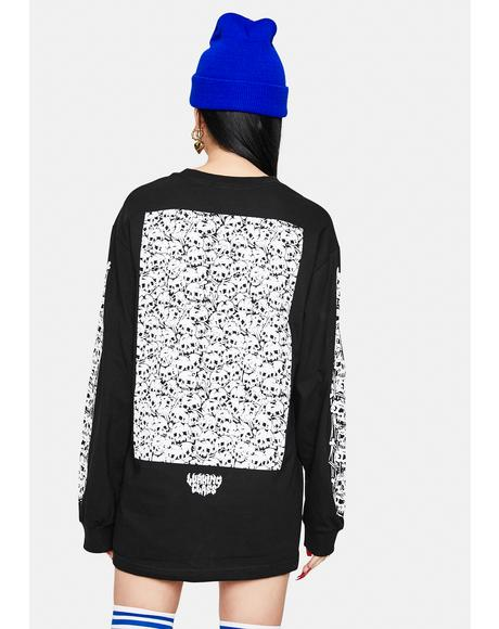 Skulls Long Sleeve Graphic Tee