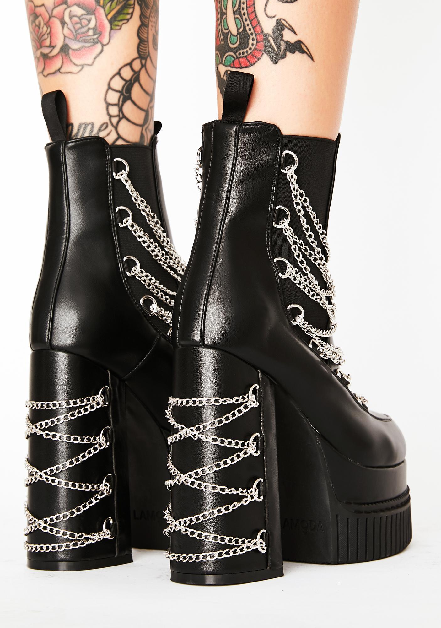 Lamoda Drippin' Tears Platform Boots