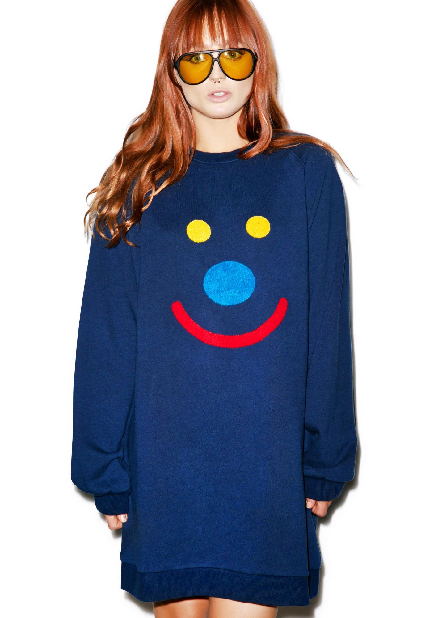 Lazy Oaf Happy Face Sweatshirt