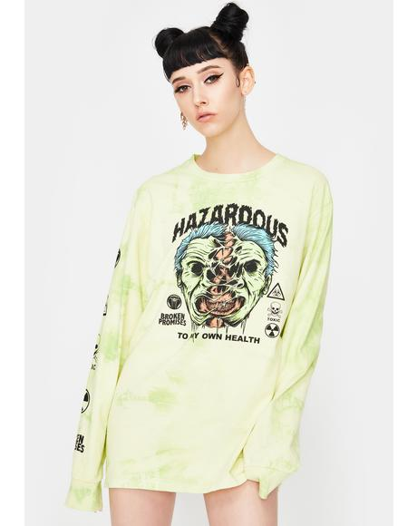 Hazardous Long Sleeve Graphic Tee