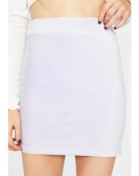 Lavender Catch Feelings Corduroy Skirt