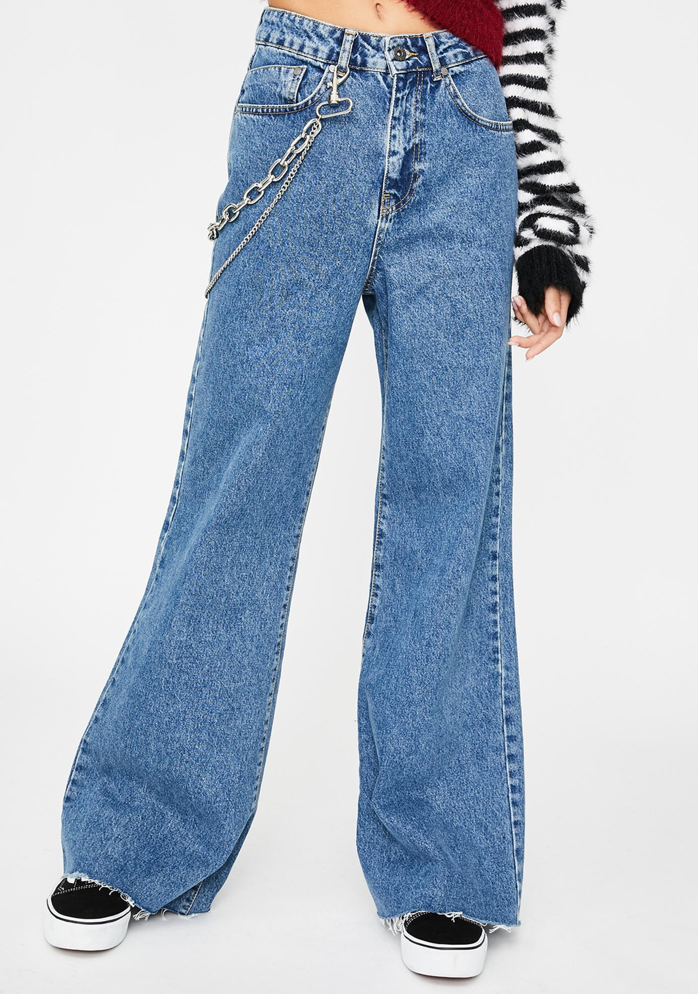 The Ragged Priest Chain Wide Leg Jeans