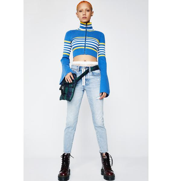 PUMA FENTY PUMA By Rihanna Cropped Turtle Zip Sweater