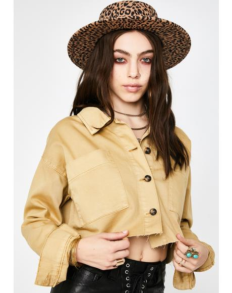 Ochre Cropped Jacket