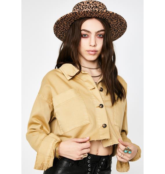 Glamorous Ochre Cropped Jacket