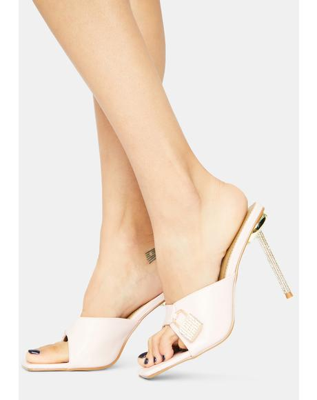 Baby Follow U Anywhere Lock Peep Toe Kitten Heels