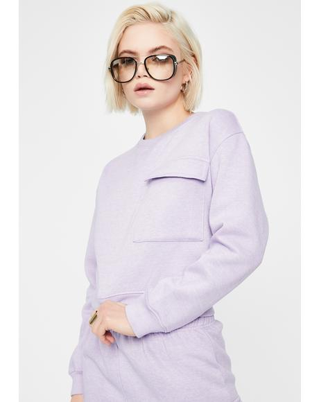 Boxy Sweatshirt With Pocket
