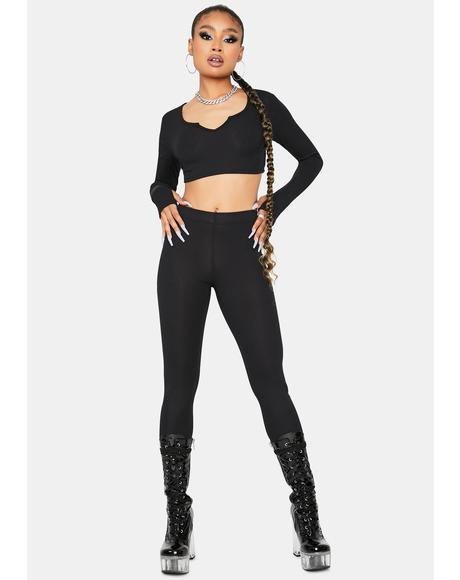 Jet Setting Love Crop Top Leggings Set