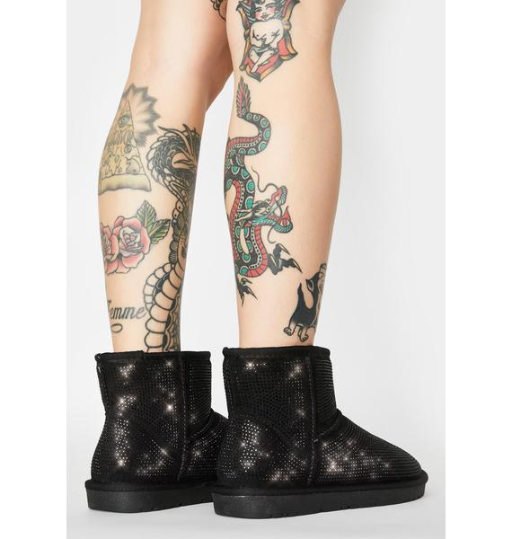 AZALEA WANG All Night Long Rhinestone Ankle Boots