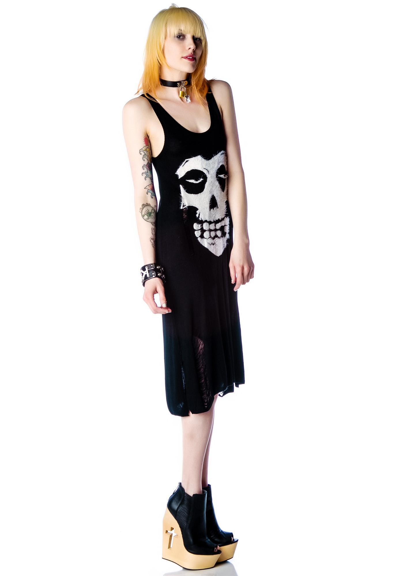 Halfman Romantics Miss Fur Knit One Piece Dress