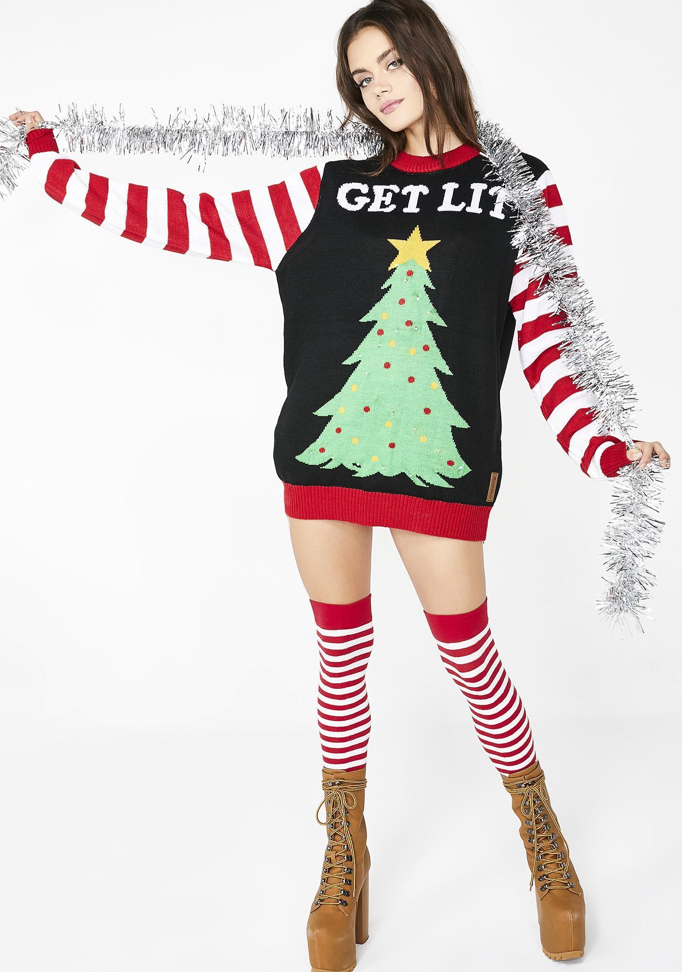 Tipsy Elves Get Lit Light Up Sweater