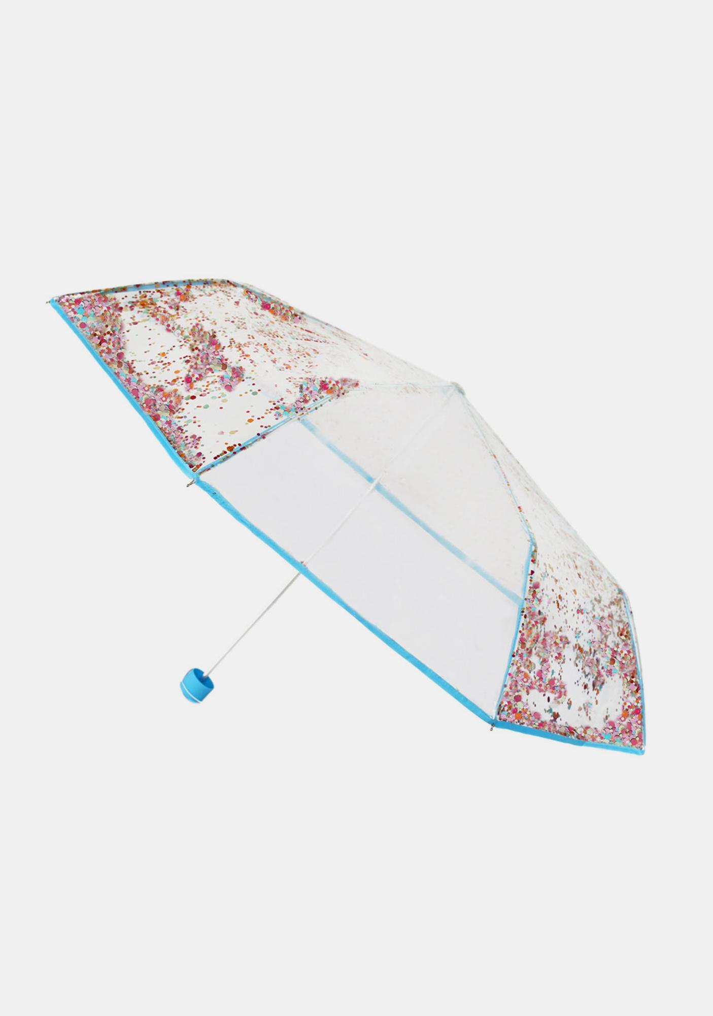 Packed Party Raining Confetti Umbrella