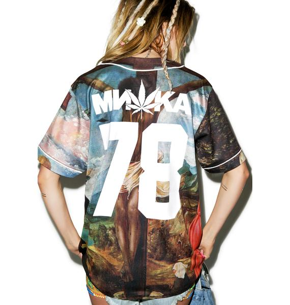 Mishka Crucifiction Baseball Jersey