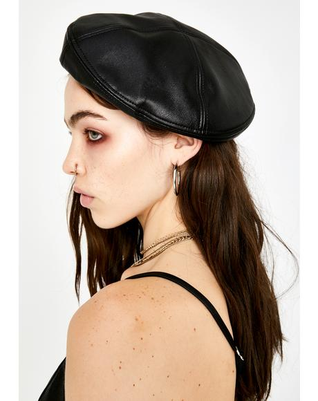 Punk N' Posh Vegan Leather Beret
