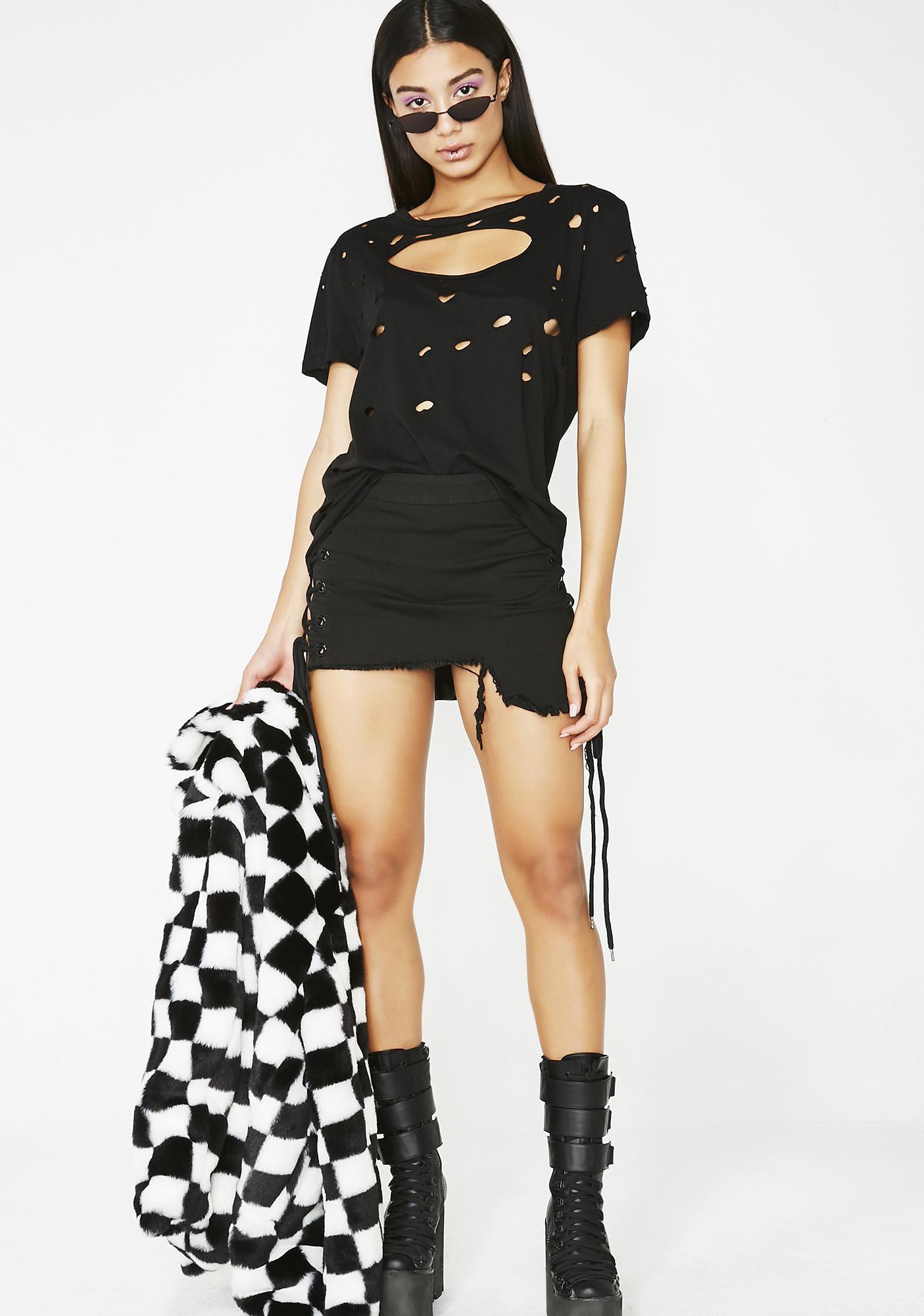 Kiki Riki Double Life Lace Up Skirt