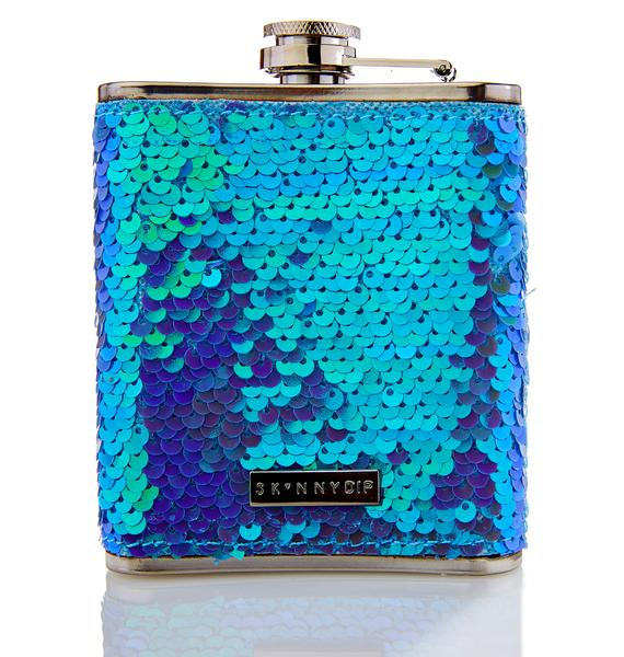 Skinnydip Sequin Flask