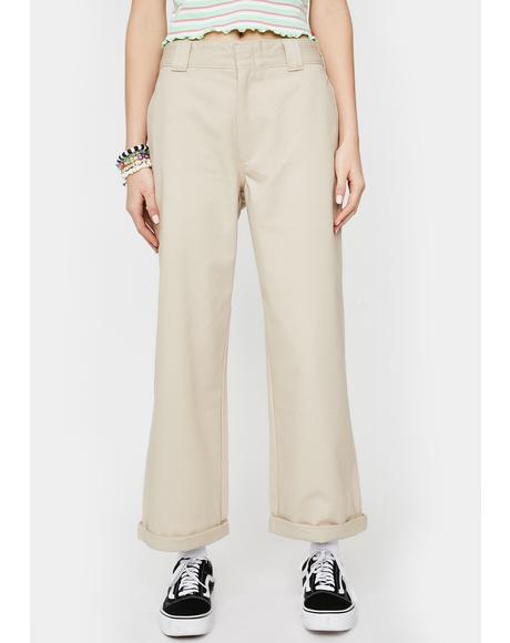 Sand Work Crop Roll Hem Pants