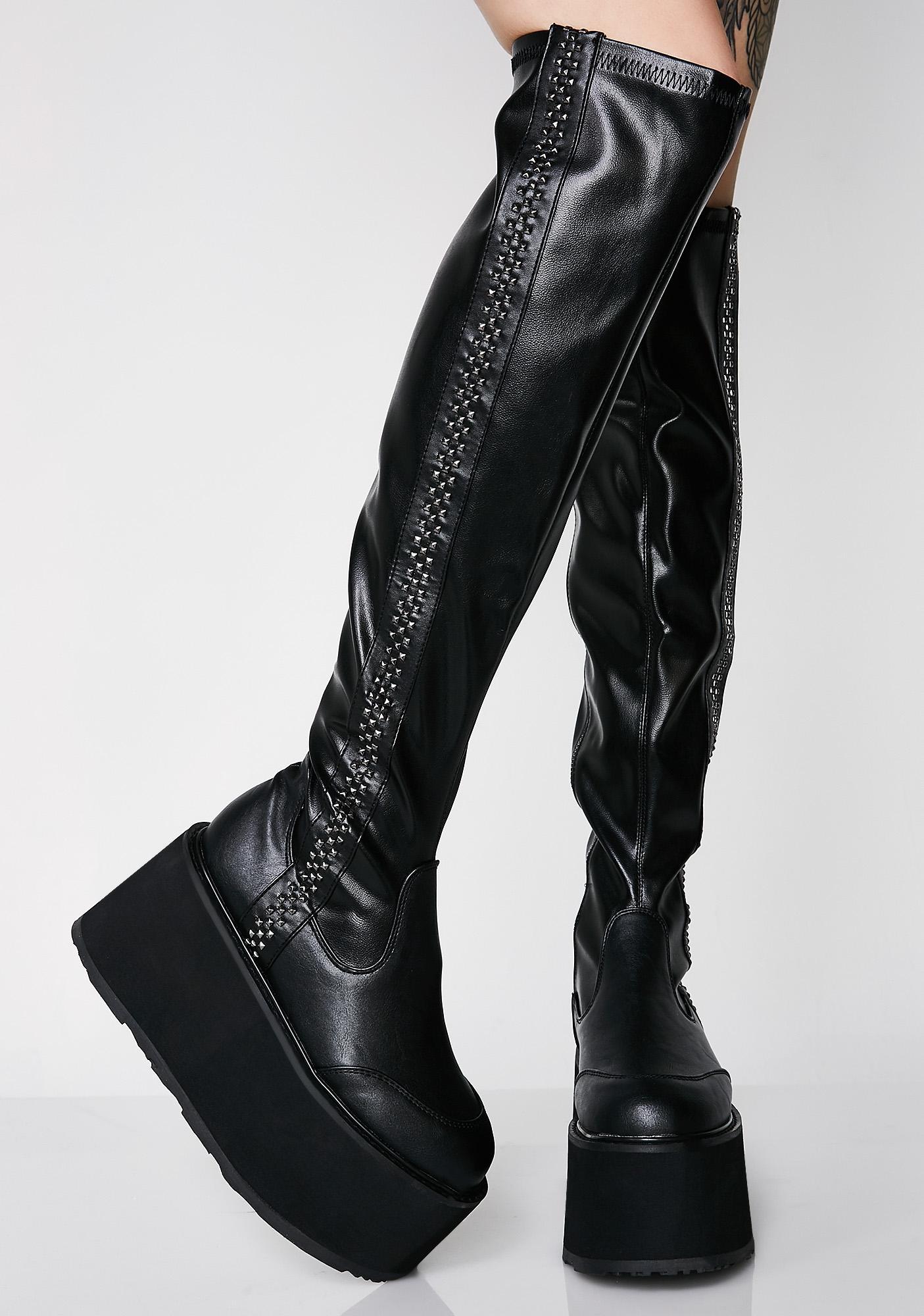 Demonia Stompin' Hard Platform Boots
