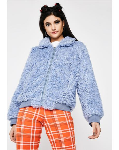 Moonstone Love Bird Fuzzy Jacket