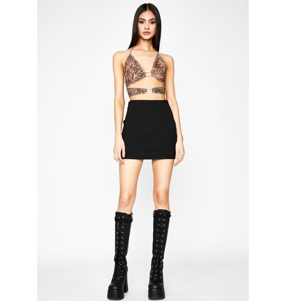 Flirty Tension Mini Skirt