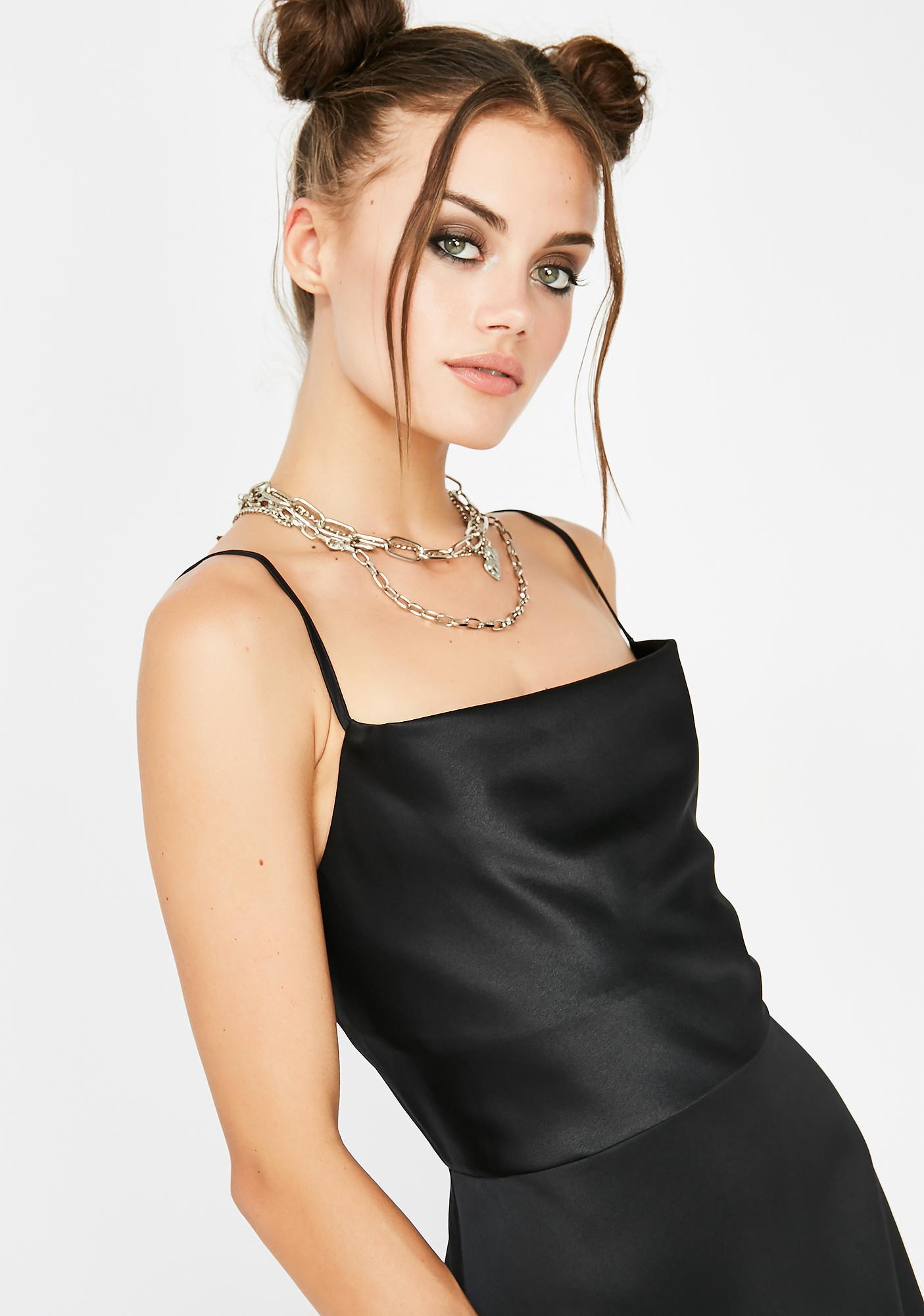 Wicked Bliss Bae Silky Slip Dress