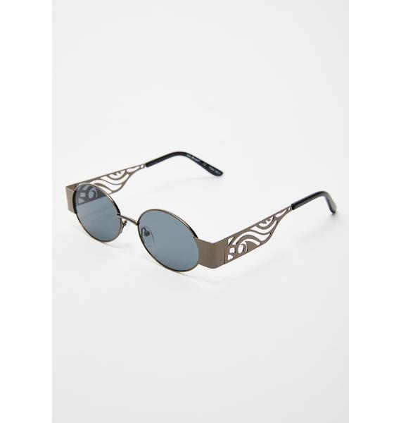 Throw Shade Oval Sunglasses